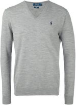 Polo Ralph Lauren v neck jumper - men - Polyester/Wool - XL