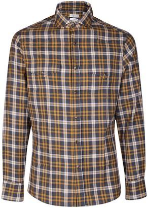 Brunello Cucinelli Checked Print Shirt