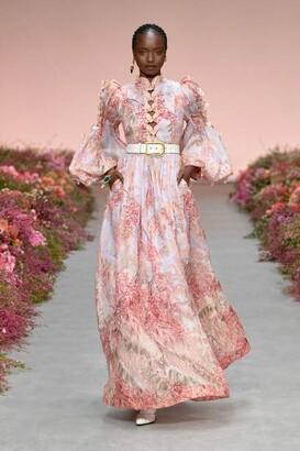 Zimmermann Long Sleeve Botanica Butterfly Gown