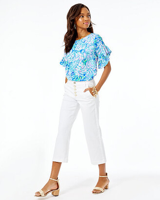 "Lilly Pulitzer 25"" Aileen High Rise Jean"