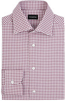Ermenegildo Zegna Men's Gingham Rossini Shirt-PINK