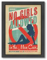 Americanflat Anderson Design Group ''No Girls Allowed'' Framed Wall Art