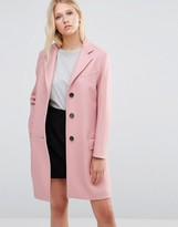 Gloverall Chesterfield Coat in Pink