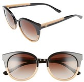 Tory Burch Women's 'Phantos' 53Mm Retro Sunglasses - Beige Black