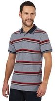 Maine New England Big And Tall Navy Striped Polo Shirt