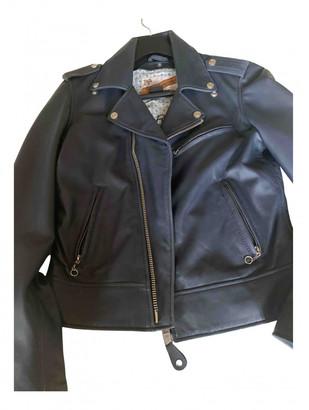 Schott Navy Leather Leather jackets