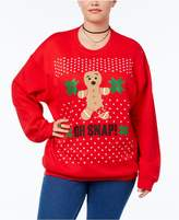 Hybrid Trendy Plus Size Oh Snap! Holiday Graphic Sweatshirt