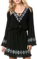 Miss Me Embroidered Fringe Dress