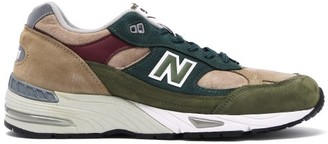 New Balance Made In Uk 991 Leather Trainers - Green Multi