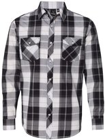 Burnside Long Sleeve Plaid Shirt.B8202
