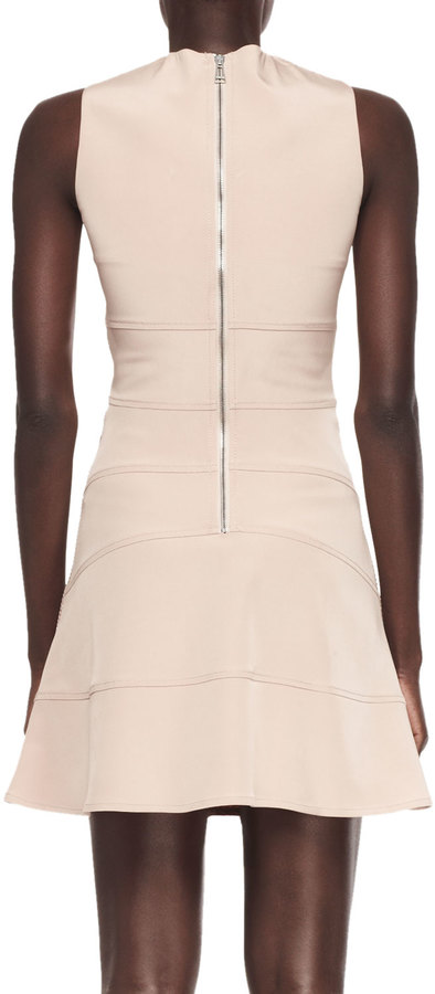 Belstaff Techno Net & Cady Paneled Dress