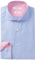 Isaac Mizrahi Dobby Slim Fit Dress Shirt