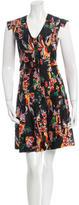 Derek Lam 10 Crosby Silk Floral Print Dress