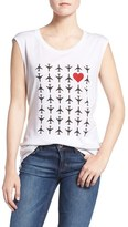 Rebecca Minkoff Women's 'Airplanes With Hearts' Graphic Muscle Tee