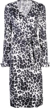Diane von Furstenberg leopard-print wrap dress