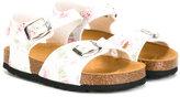 MonnaLisa floral print sandals - kids - Cotton/rubber - 28