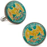 Penny Black 40 Hand Painted American Quarter Coin Cufflinks