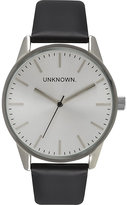 Unknown Un14tc06 The Classic Stainless Steel And Leather Watch
