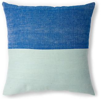 Bole Road Textiles Karo 20x20 Pillow - Azure