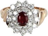 One Kings Lane Vintage Ruby & Diamond Princess Ring