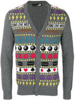 Love Moschino intarsia knit cardigan