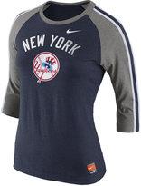 Nike Women's New York Yankees Coop Tri Raglan T-Shirt
