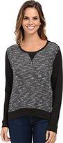 Calvin Klein Jeans Women's Slub Terry Hi-Lo Pullover