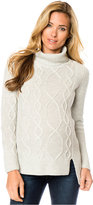 A Pea in the Pod Maternity Cable-Knit High-Low Wool Sweater