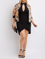 Charlotte Russe Plus Size Mock Neck Knotted Bodycon Dress