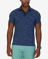 Nautica Men's Big & Tall Slim-Fit Leaf-Print Polo