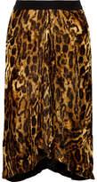 Isabel Marant Tursanne Asymmetric Leopard-print Velvet Skirt - Leopard print