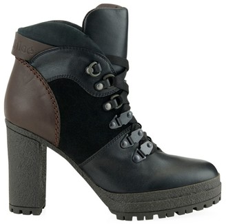 See by Chloe Leather Stack Heel Hiking Boots