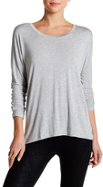 David Lerner Long Sleeve Hi-Lo Scoop Neck Tee