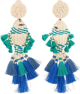Mercedes Salazar Tassel Fish Earrings