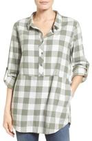 Women's Caslon Plaid Cotton Tunic