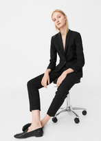 MANGO Cotton Wool-Blend Blazer