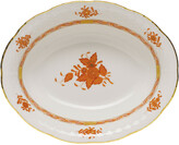 Herend Chinese Bouquet Rust Open Vegetable Dish