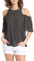 BP Women's Print Cold Shoulder Top