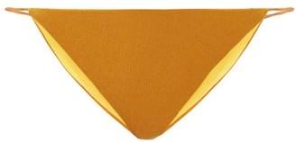 JADE SWIM Bare Minimum Terry Bikini Briefs - Dark Yellow