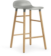 Normann Copenhagen Form Barstool H65cm Grey/Oak