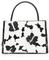 Nancy Gonzalez Mini Crocodile Wallis Floral Tote