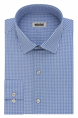 Unlisted by Kenneth Cole mens Slim Fit Checks and Stripes (Patterned) Dress Shirt
