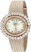 Burgi Women's BUR075RG Mother-Of-Pearl Diamond Mesh Bracelet Watch