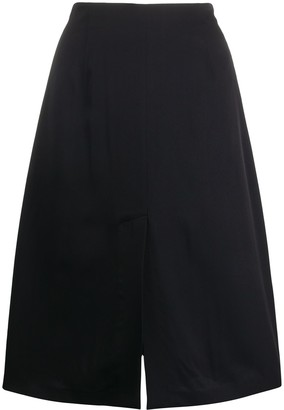 Maison Margiela Four-Stitched Logo Skirt