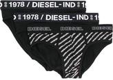 Diesel Three-pack of briefs plain and printed