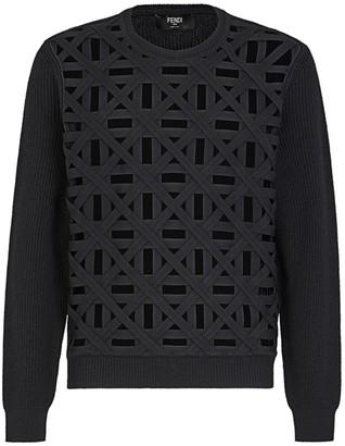 Fendi Basket Weave Wool Sweater