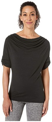 Royal Robbins Noe Elbow Top (Jet Black) Women's Short Sleeve Pullover