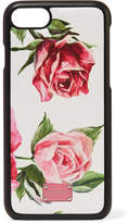 Dolce & Gabbana Floral-print Textured-leather Iphone 7 And 8 Case - Pink
