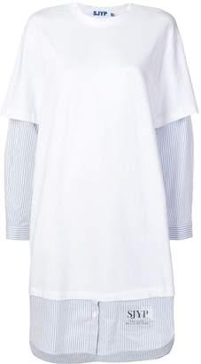Sjyp T-shirt over shirt dress
