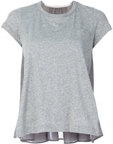 Sacai babydoll rear panel t-shirt - women - Cotton/Cupro - 2